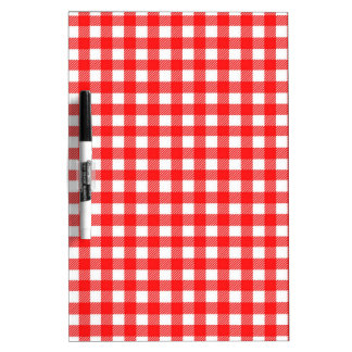 Red and White Checked Tablecloth Pattern Dry-Erase Board