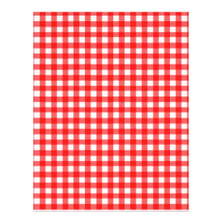Red and White Checked Tablecloth Pattern Flyer