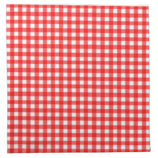 Red and White Checked Tablecloth Pattern Napkin