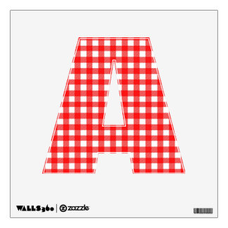Red and White Checked Tablecloth Pattern Wall Decals