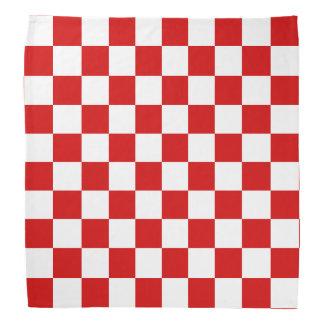 Red and White Checker Pattern Bandana