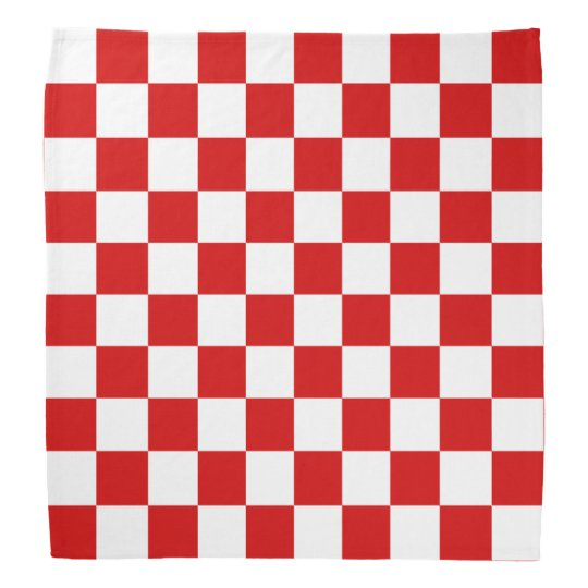 Red And White Checker Pattern Bandana Zazzle Stunning Checker Pattern