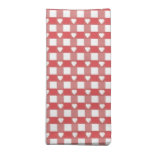 Red and White Checkerboard w/ Hearts Cloth Napkins