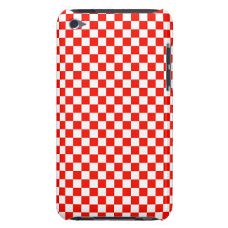 Red  and White Checkered iPod Touch Case