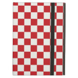 Red and White Checkered Pattern Country BBQ Colors iPad Covers