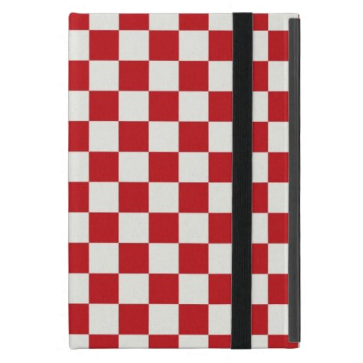 Red and White Checkered Pattern Country BBQ Colors Cases For iPad Mini