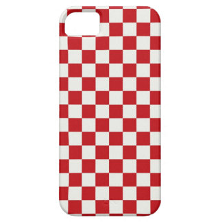 Red and White Checkered Pattern Country BBQ Colors iPhone 5 Case