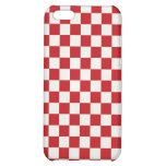 Red and White Checkered Pattern Country BBQ Colors iPhone 5C Cover