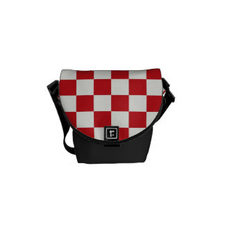 Red and White Checkered Pattern Country BBQ Colors Courier Bags