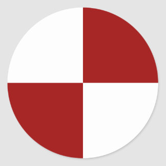 Red and White Checkered Stickers