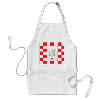 Red and White Checkered with Chef Apron