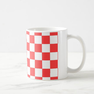 Red And White Checks Coffee Mug