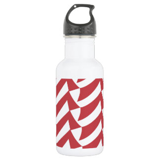 Red and White Checks Water Bottle
