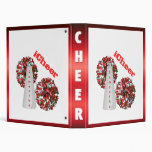 Red and white Cheerleader Binder