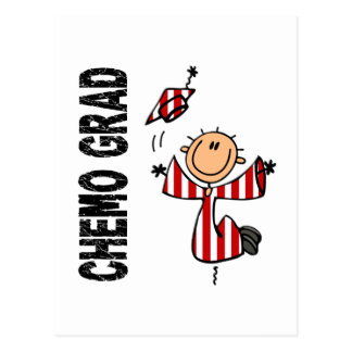 Red and White CHEMO GRAD 1 (Oral Cancer) Postcard
