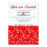 """Red and White Cherry Blossoms 5"""" X 7"""" Invitation Card"""