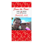 Red and White Cherry Blossoms Save The Date Photo Cards