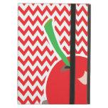 Red and  White Cherry Chevron   iPad Case