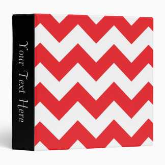 Red and White Chevron 3-Ring Binder