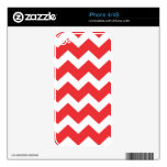 Red and White Chevron Decal For The iPhone 4