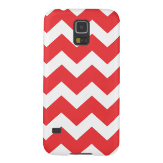 Red and White Chevron Galaxy S5 Case