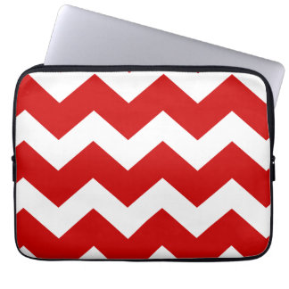 Red and white Chevron Laptop Sleeve
