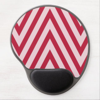 Red and white  chevron mousepadc gel mouse pad