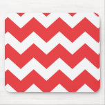 Red and White Chevron Mousepads