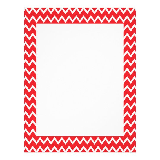Red and White Chevron Pattern Letterhead
