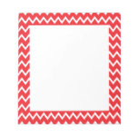 Red and White Chevron Pattern Memo Note Pads