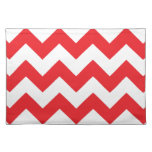 Red and White Chevron Placemat Cloth Placemat