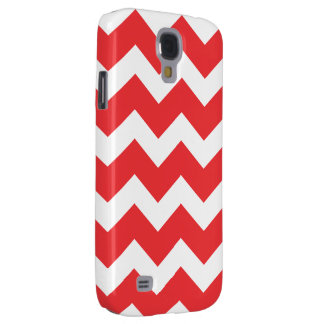 Red and White Chevron Samsung S4 Case
