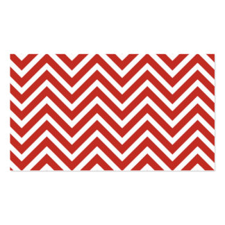 Red and White Chevron Stripes Double-Sided Standard Business Cards (Pack Of 100)