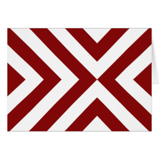 Red and White Chevrons Card