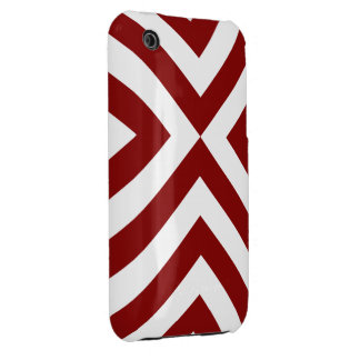 Red and White Chevrons iPhone 3 Case