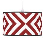 Red and White Chevrons Ceiling Lamps