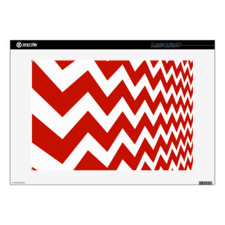 """Red and White Chevrons Decals For 15"""" Laptops"""