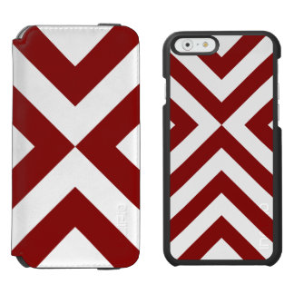 Red and White Chevrons iPhone 6/6s Wallet Case