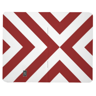 Red and White Chevrons Journal