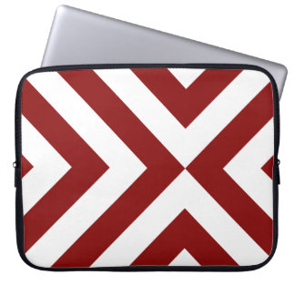 Red and White Chevrons Laptop Sleeve