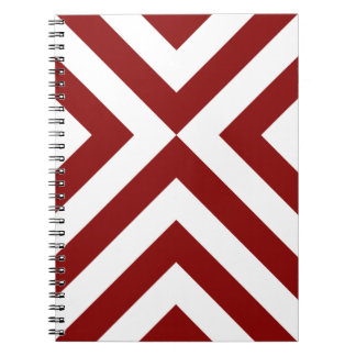Red and White Chevrons Notebooks