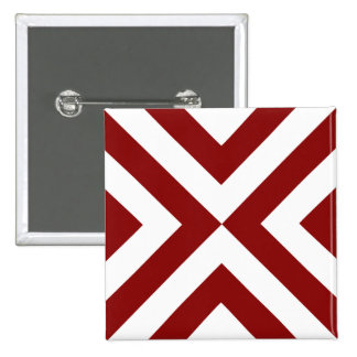 Red and White Chevrons Pin