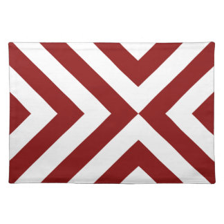 Red and White Chevrons Placemat