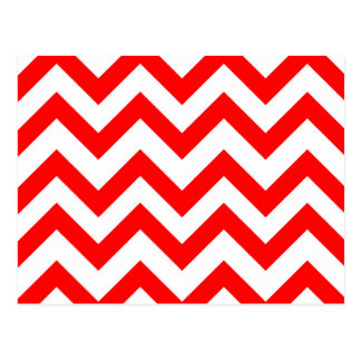 Red And White Chevrons Postcard