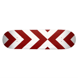 Red and White Chevrons Skateboard Deck