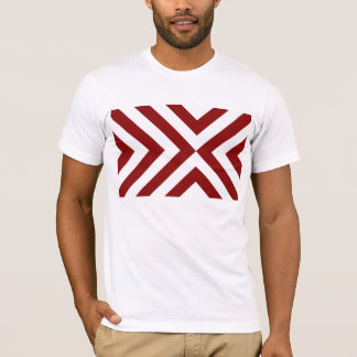 Red and White Chevrons T-Shirt