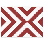 "Red and White Chevrons Tissue Paper 17"" X 23"" Tissue Paper"