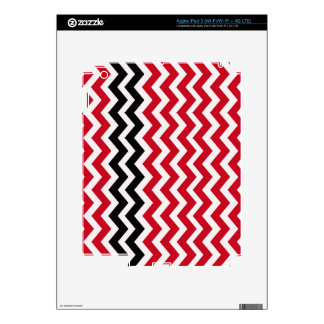 Red and White Chevrons With Black iPad 3 Decal