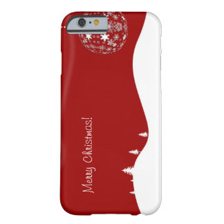 Red and White Christmas Abstract Silhouette Barely There iPhone 6 Case