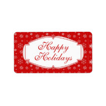 Red and White Christmas Gift Tags / Mailing Labels